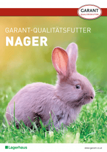 Prospekt Garant Qualitätsfutter für Nager