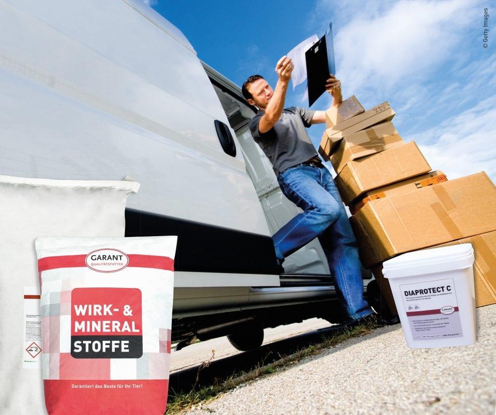 Lieferung von Garant-Produkten durch Paketdienst